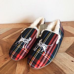 J. Crew | Dalmatian Embroidered Loafer Slippers